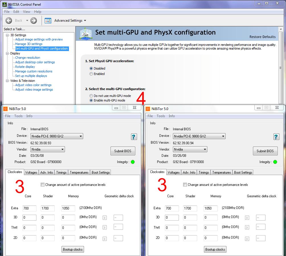 Смена таймингов видеопамяти на 9800 GX2