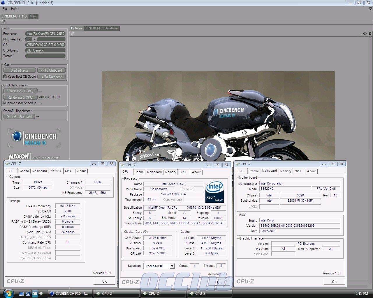 Cinebench R10 Xeon X5570