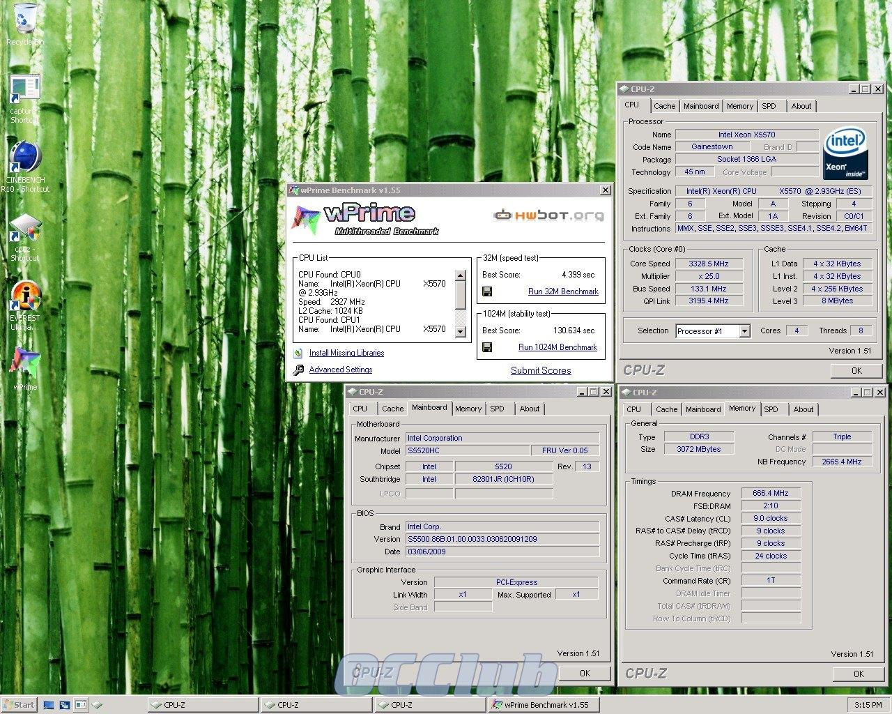 wPrime Xeon X5570