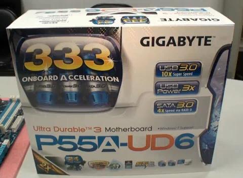 Обновленная материнская плата GA-P55A-UD6