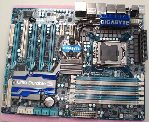Системная плата Gigabyte EX-58 Extreme 2 с поддержкой SATA III и USB 3.0, основанная на X58 чипсете