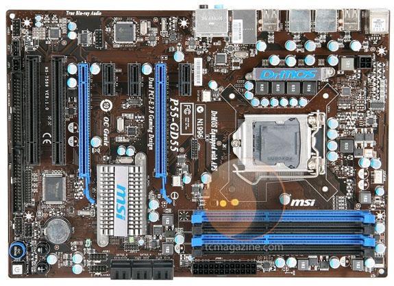 MSI P55-GD55 - новая системная плата на чипсете Intel P55