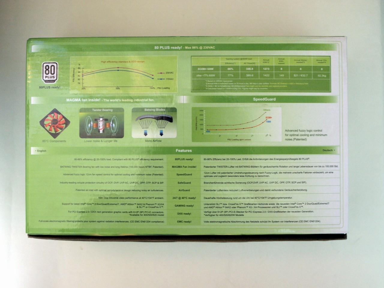 Обзор блока питания Enermax ECO80+ 620W