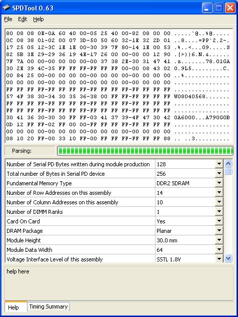 SPDTool - утилита для чтения, изменения и записи системной области SPD в модулях оперативной памяти.
