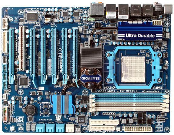 Gigabyte GA-890FXA-UD7 - новый флагман в линейке плат предназначенных для работы с процессорами AMD