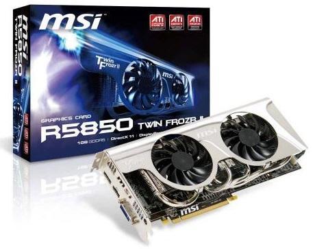 MSI объявила о выходе Radeon HD 5850 и 5870 серии Twin Frozr II