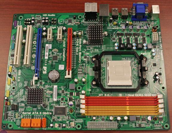 Системная плата ECS A880GM-A2 на основе  чипсета AMD 880G