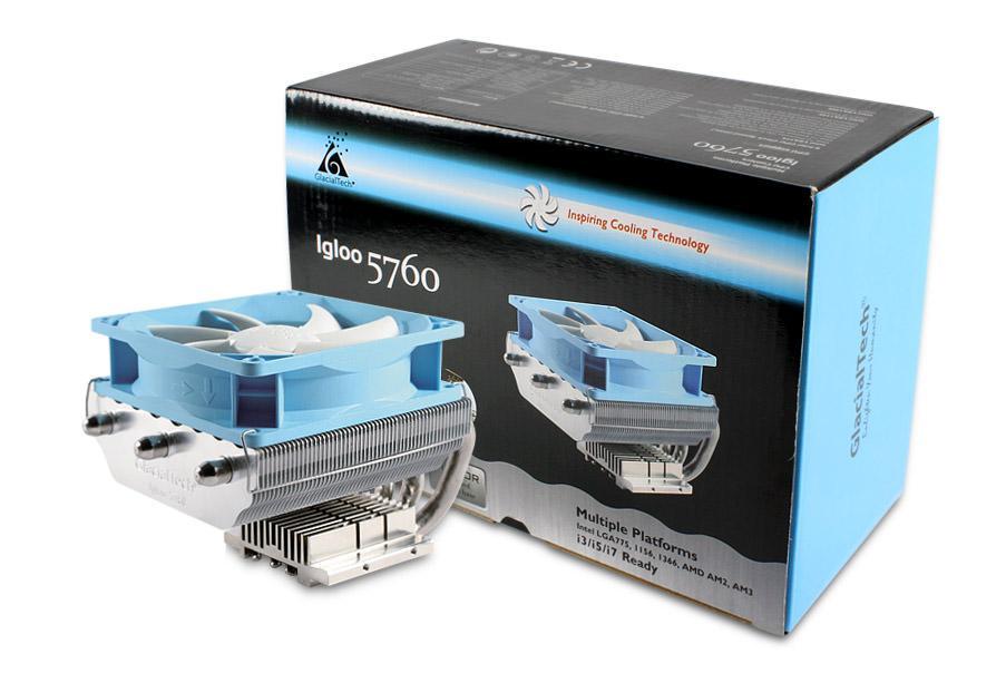 GlacialTech представляет многоплатформенный процессорный кулер IGLOO 5760