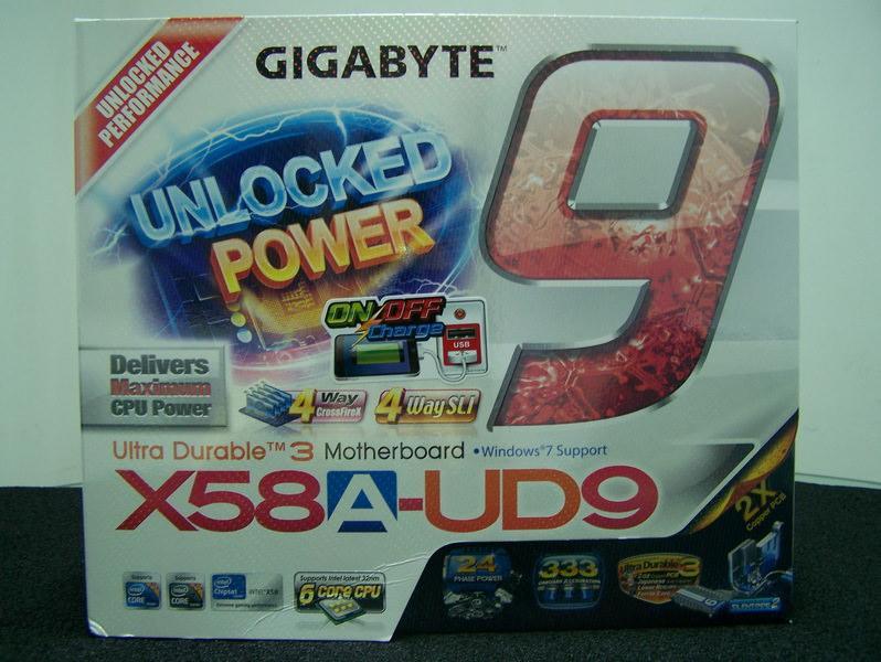 Новые фотографии ретейлового образца системной платы Gigabyte GA-X58A-UD9