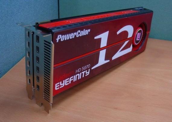 PowerColor анонсирует видеокарту Radeon HD 5970 Eyefinity 12 с возможностью подключения 12 мониторов