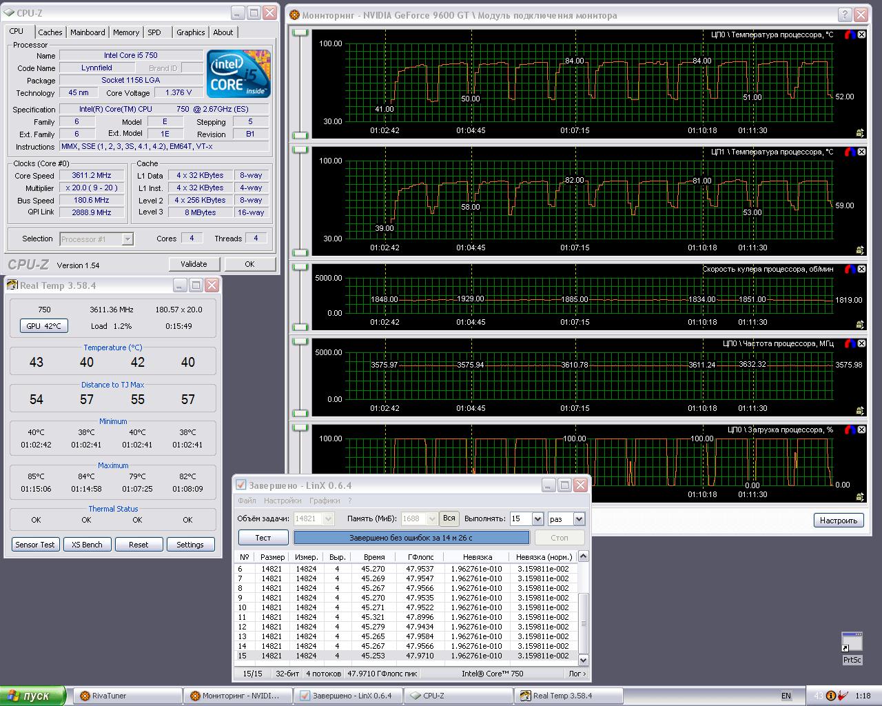 """Тестирование кулера Noctua NH-U12P на платформе Intel LGA 1156 или """"В бой идут одни старики"""""""