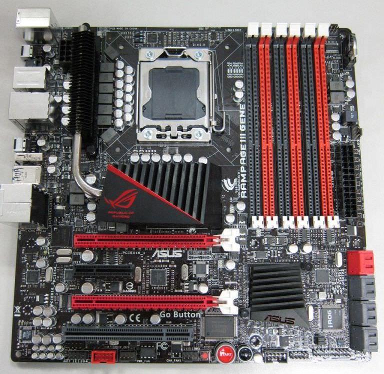 Системная плата Asus ROG Rampage III Gene будет представлена на Computex 2010