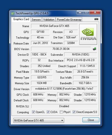 Leadtek GTX465 - игровые тесты новичка от NVIDIA