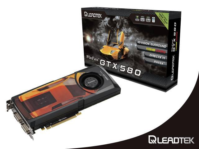 Leadtek запускает новое поколение видеокарт WinFast® GTX 580 с превосходным соотношением производительности на ватт