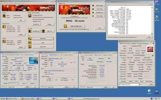 Отчет о бенче видеокарты Asus Radeon HD 4770 Formula