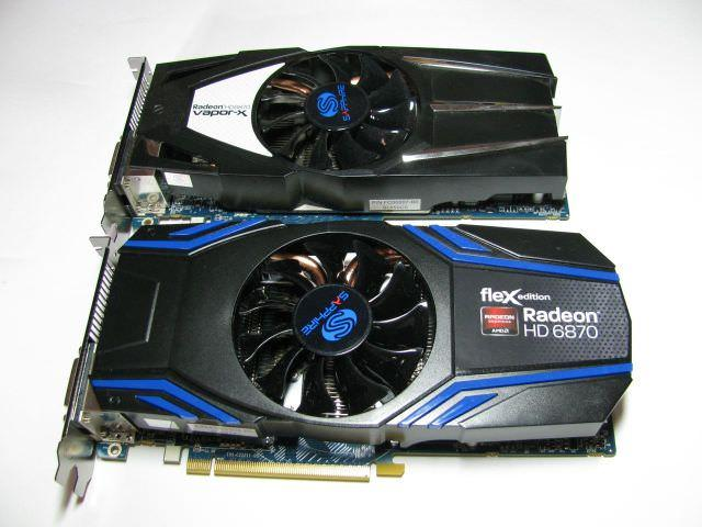 Сравнение систем охлаждения видеокарт SAPPHIRE HD 6870 Vapor-X Edition и SAPPHIRE HD 6870 FleX