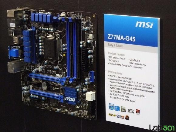 CeBIT 2012 – MSI продемонстрировала пять материнских плат на чипсете Intel Z77