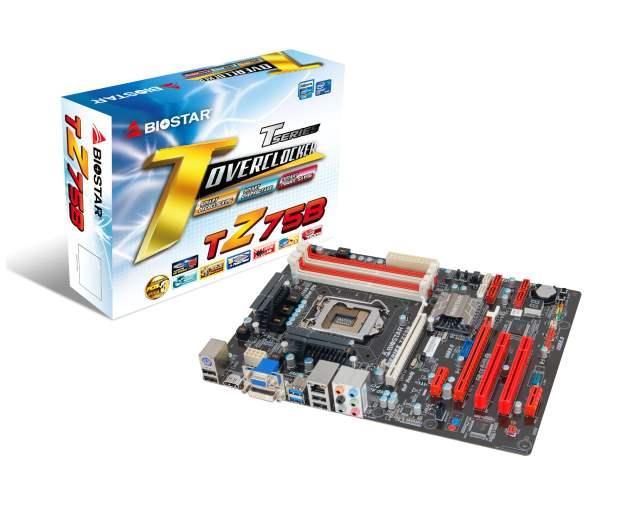 Универсальные платы BIOSTAR TZ75B на базе чипсета Intel Z75