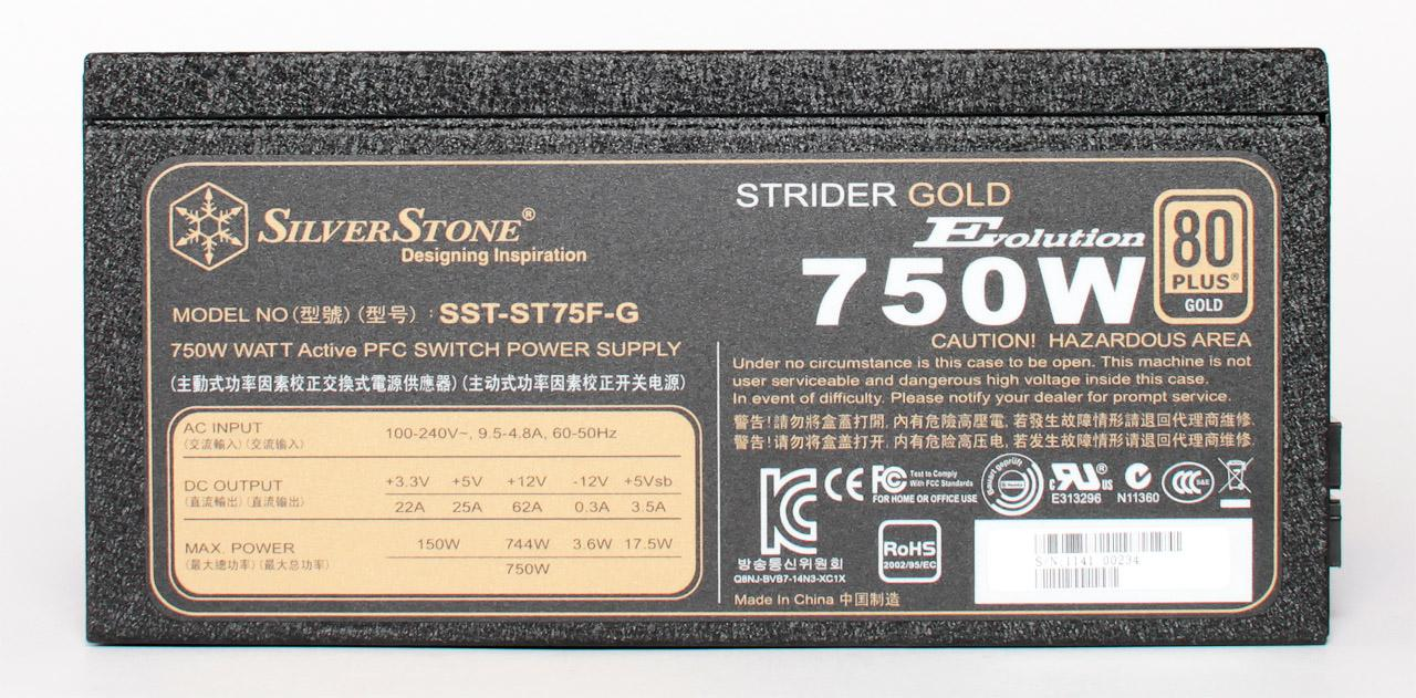 Обзор блока питания Silverstone SST-ST75F-G