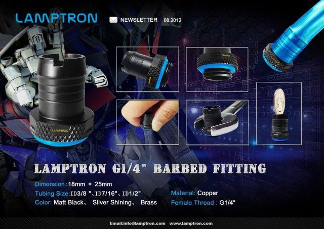 Компания Lamptron выпустила фитинги для систем жидкостного охлаждения