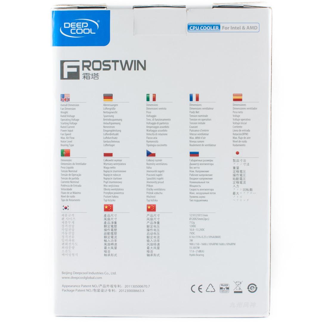 Обзор и тестирование процессорного кулера DeepCool Frostwin