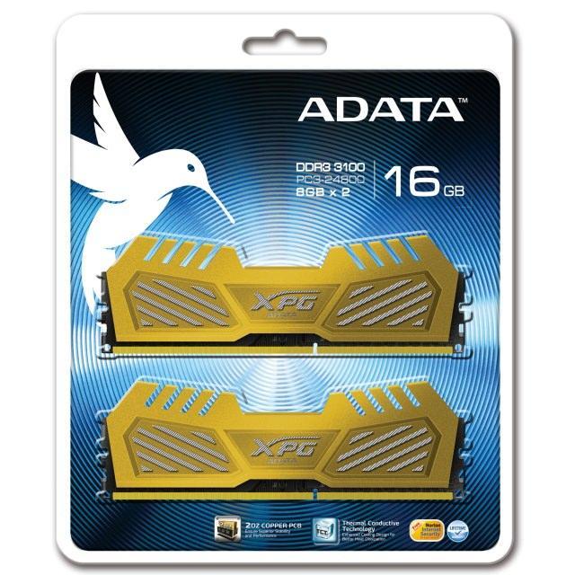 ADATA представила двухканальный комплект памяти XPG V2 3100 с рабочей частотой 3100 МГц