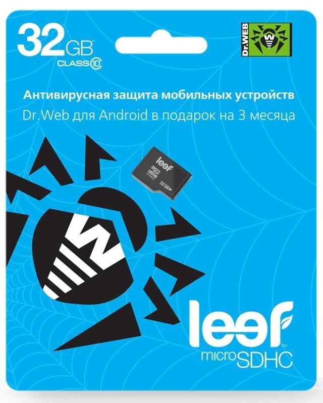 Новые карты памяти Leef с антивирусом Dr.Web для Android