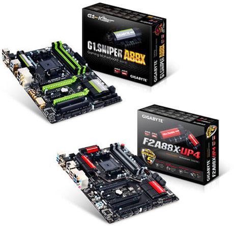 Gigabyte представляет две платы на чипсете AMD A88X