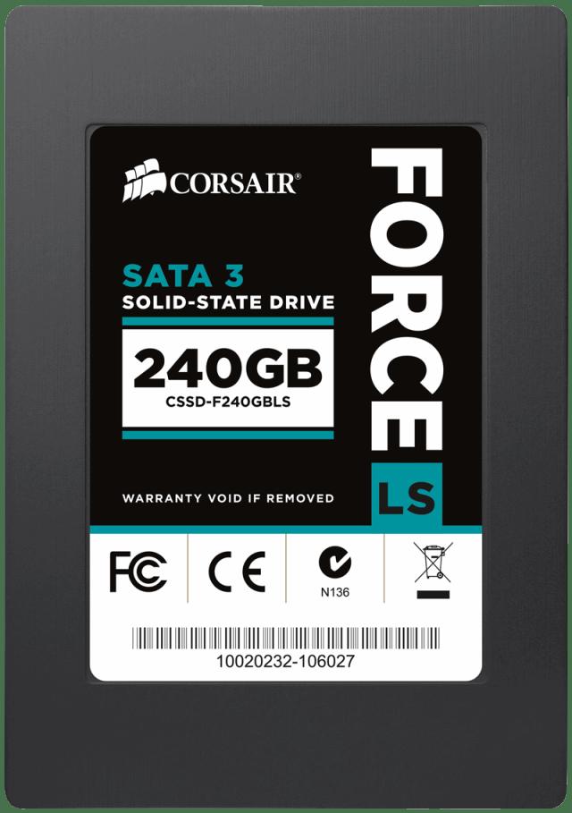 Компания Corsair объявляет о выпуске линейки SSD-накопителей Force Series LS