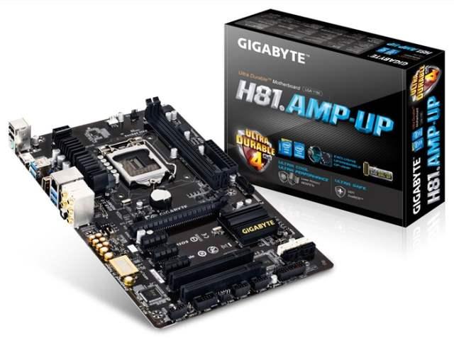 Gigabyte представляет материнскую плату GA-H81.Amp-UP с высококачественным звуковым кодеком