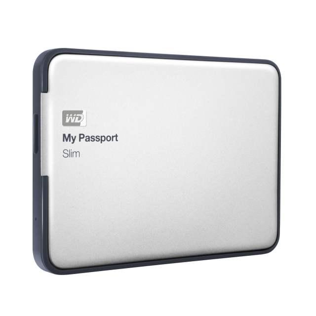 Western Digital MY PASSPORT SLIM — первый тонкий накопитель емкостью 2 терабайта в металлическом корпусе