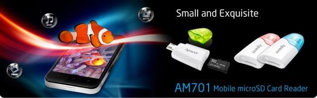 Стильный и функциональный кард-ридер Apacer AM701 с функцией OTG