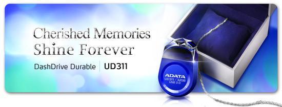 ADATA оснащает компактный USB флэш-накопитель DashDrive Durable UD311 скоростным интерфейсом USB 3.0