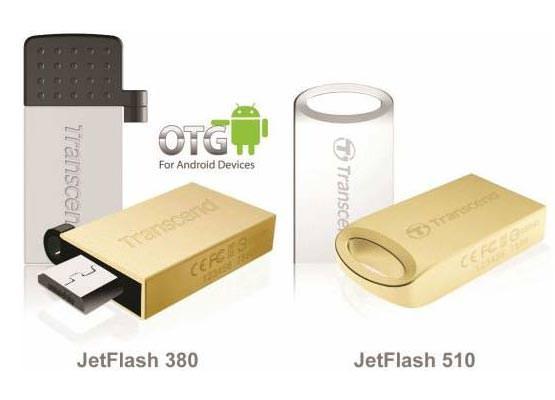 Transcend представила флэш-накопители JetFlash 510 и JetFlash 380 с поддержкой технологии On-The-Go