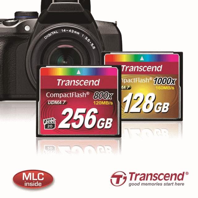 Transcend представила линейку профессиональных карт памяти CompactFlash 800x