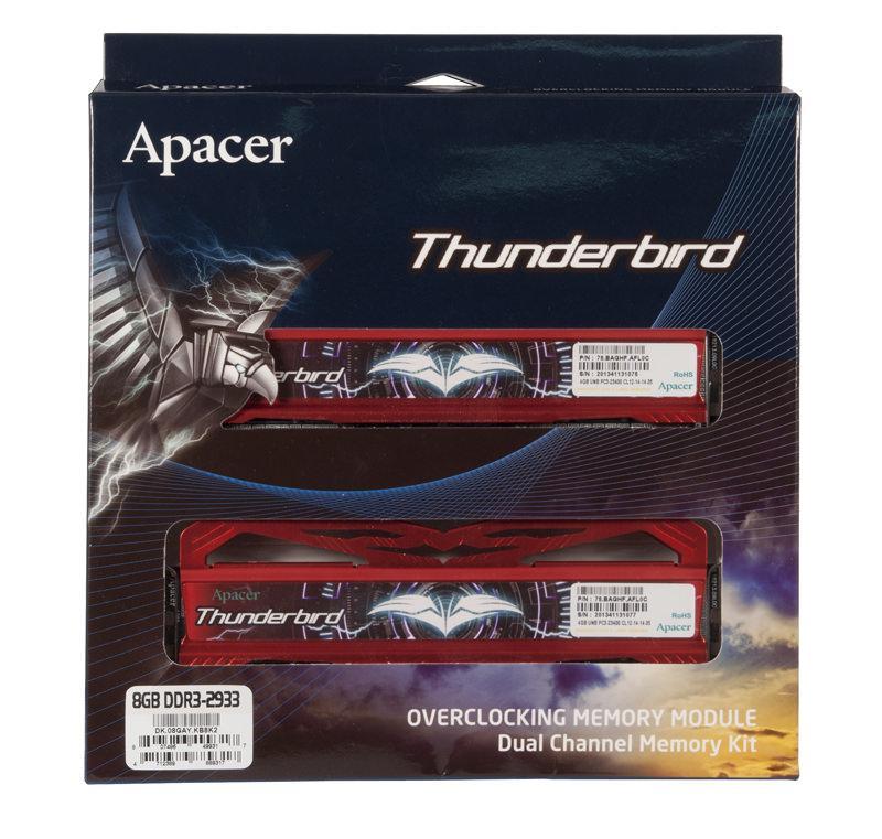 Обзор оверклокерской оперативной памяти Apacer Thunderbird DDR3-2933