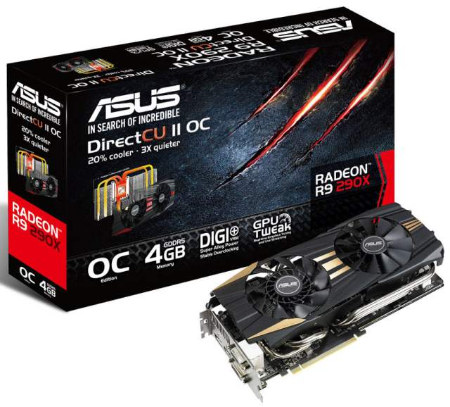 ASUS представляет видеокарты R9 290X и R9 290 DirectCU II