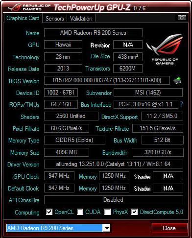 Утилита GPU-Z для видеокарт обновилась до версии 0.7.6