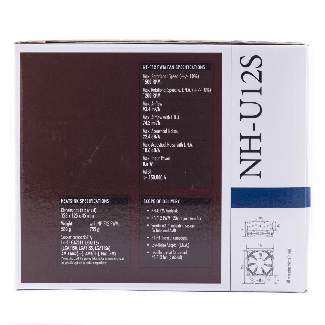 Обзор и тестирование процессорного кулера Noctua NH-U12S