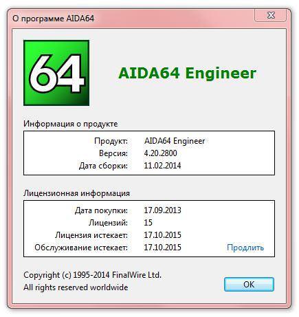 Finalwire AIDA64 обновилась до версии 4.20