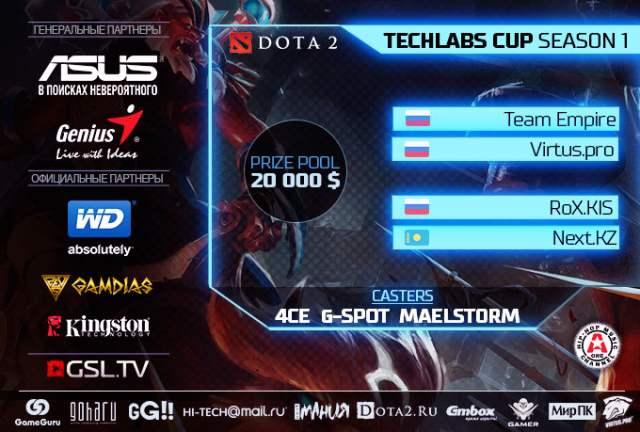 5 апреля – праздник Dota 2 на TECHLABS CUP RU Season 1