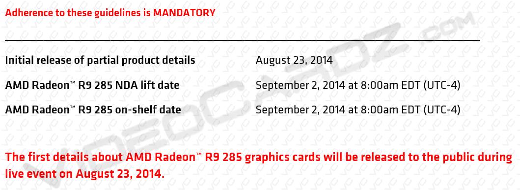 AMD-Radeon-R9-285-NDA-lift-date