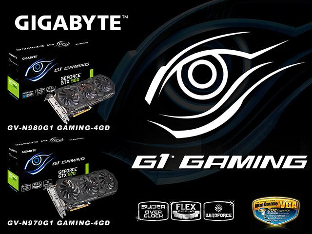 GIGABYTE представляет графические карты GeForce(R) GTX 980 и GTX 970 из серии G1 Gaming