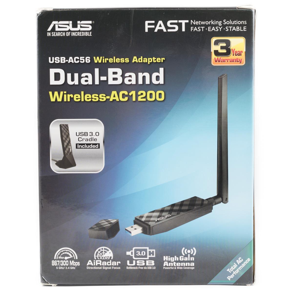 Обзор и тестирование беспроводных USB адаптеров ASUS USB-AC53 и ASUS USB-AC56