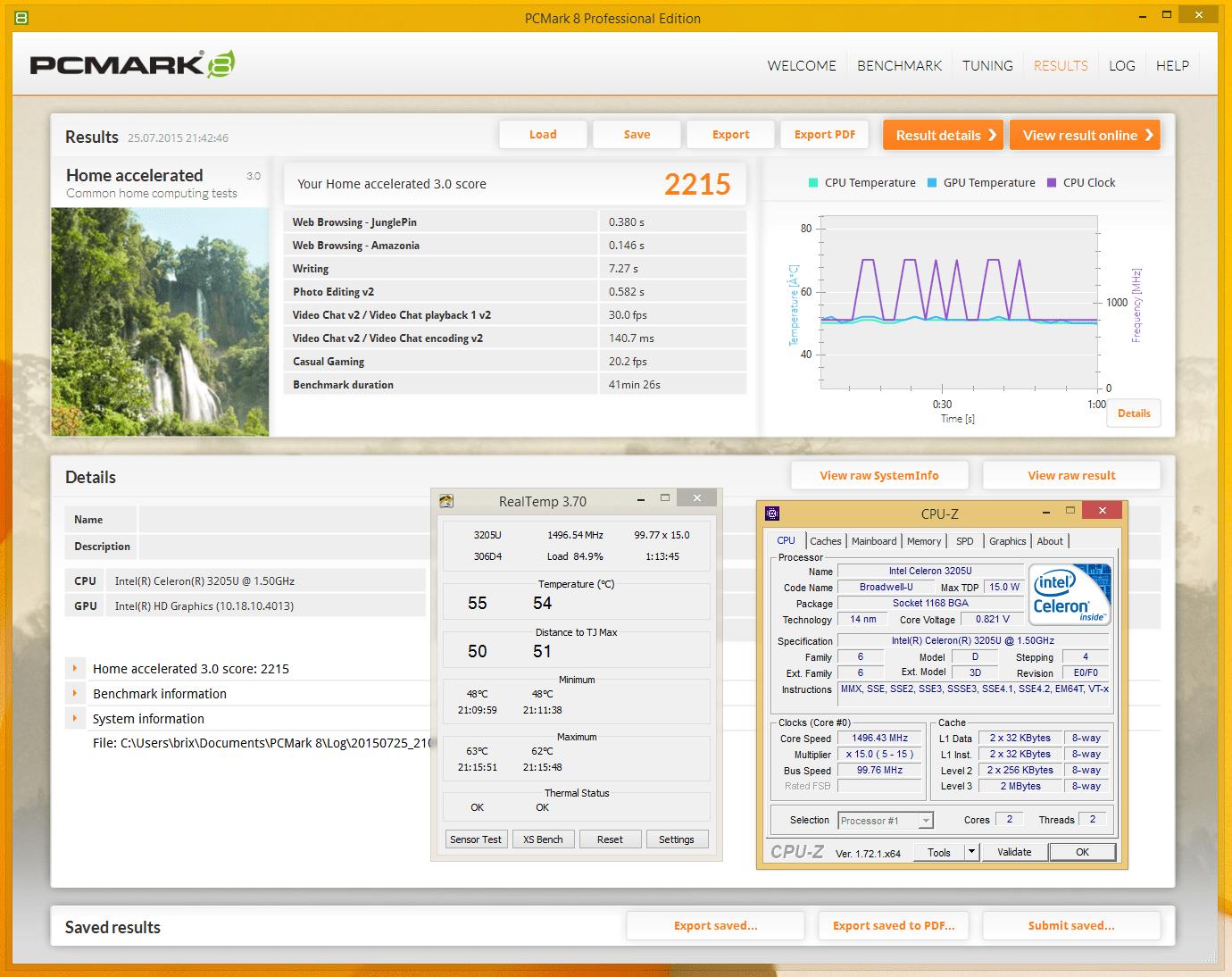 pcmark realtemp
