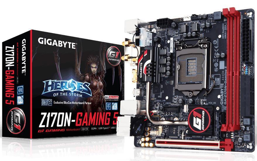 GIGABYTE представила Mini-ITX материнскую плату Z170N-Gaming 5