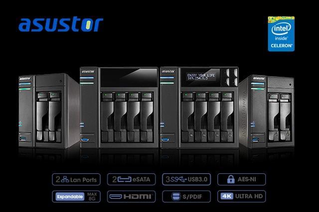 ASUSTOR выпускает первые в мире NAS на базе процессоров Intel Braswell