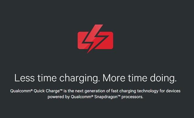 Qualcomm Quick Charge 3.0 – от 0% до 100% меньше, чем за час.