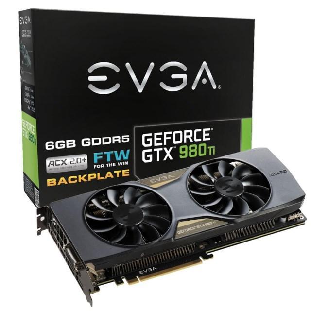 Компания EVGA представила видеокарту EVGA GeForce GTX 980 Ti FTW ACX 2.0+