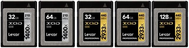 Lexar представила XQD 2.0 карты памяти Lexar Professional 2933x и 1400x и карт-ридер Lexar Professional Workflow XR2